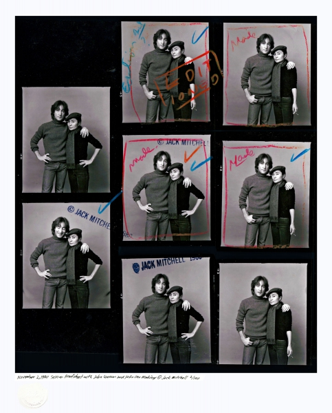 John Lennon and Yoko Ono Proof Sheet - 1980 - 1